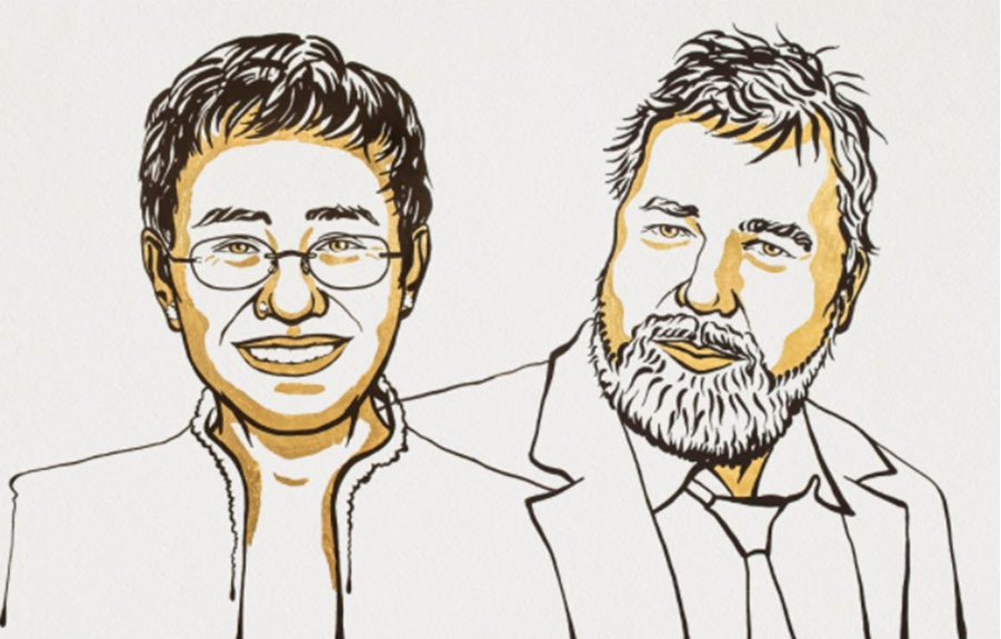 फिलिपिन्स र रुसी पत्रकारले पाए नोबेल शान्ति पुरस्कार